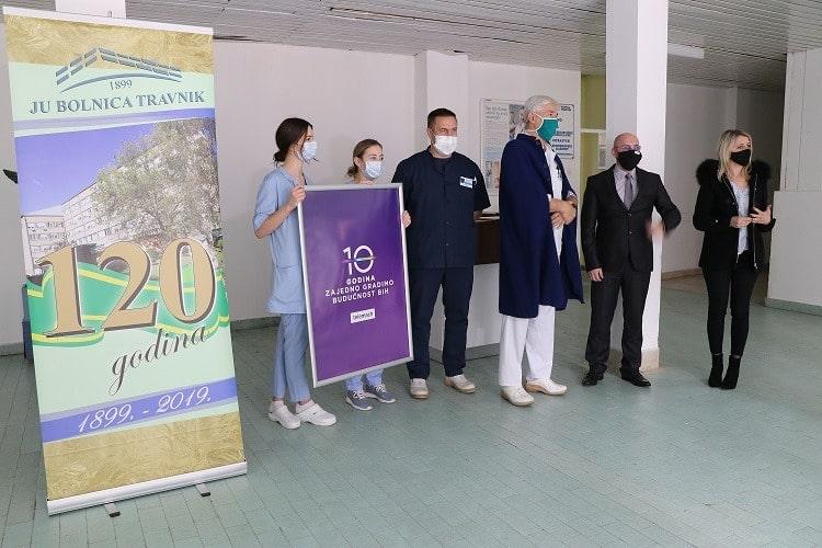 Telemach Kantonalnoj bolnici Travnik donira opremu vrijednu 30.000 KM